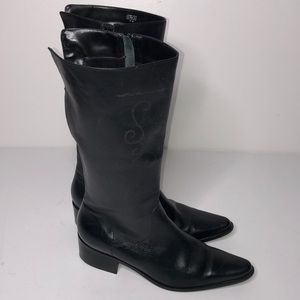 Matisse Black Leather western cowboy boots zip 8.5